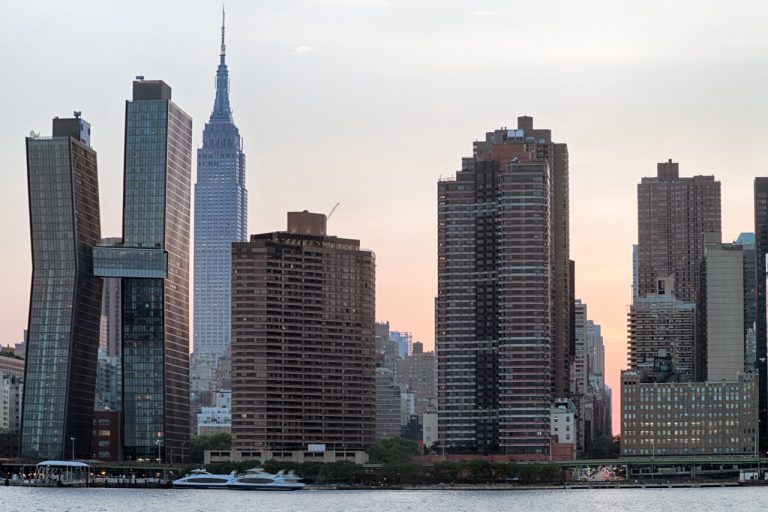 Midtown Manhattan and the East River at Sunset 8