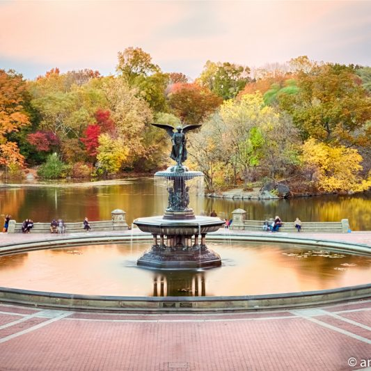 Bethesda Fountain Golden Autumn 3