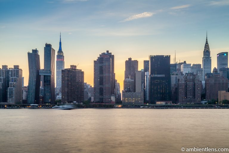 Midtown Manhattan and the East River at Sunset 4