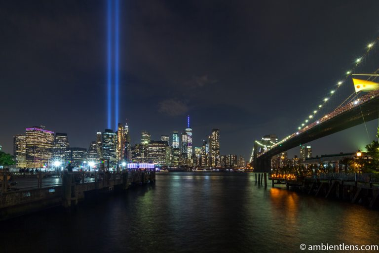 September 11 Twin Lights in Lower Manhattan, New York 1