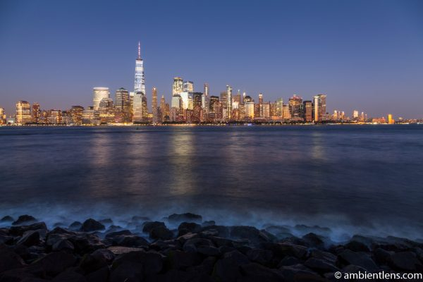 Lower Manhattan and the Hudson River at Night 8