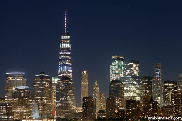Lower Manhattan and the Hudson River at Night 6