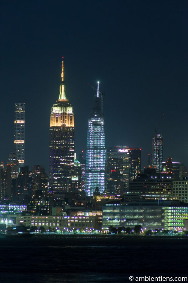 Midtown Manhattan and the Hudson River at Night 5