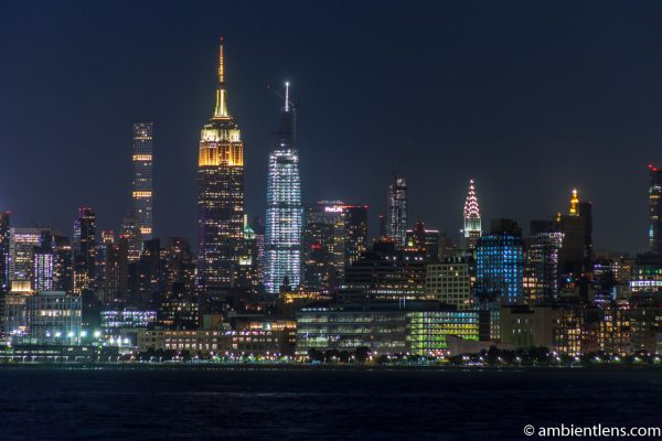 Midtown Manhattan and the Hudson River at Night 4