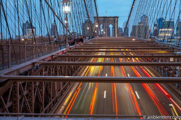 Cars on the Brooklyn Bridge at Night 5