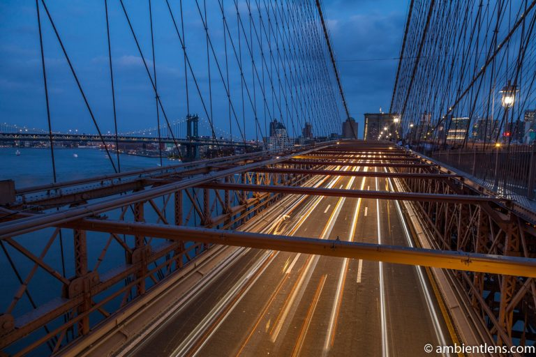 Cars on the Brooklyn Bridge at Night 4