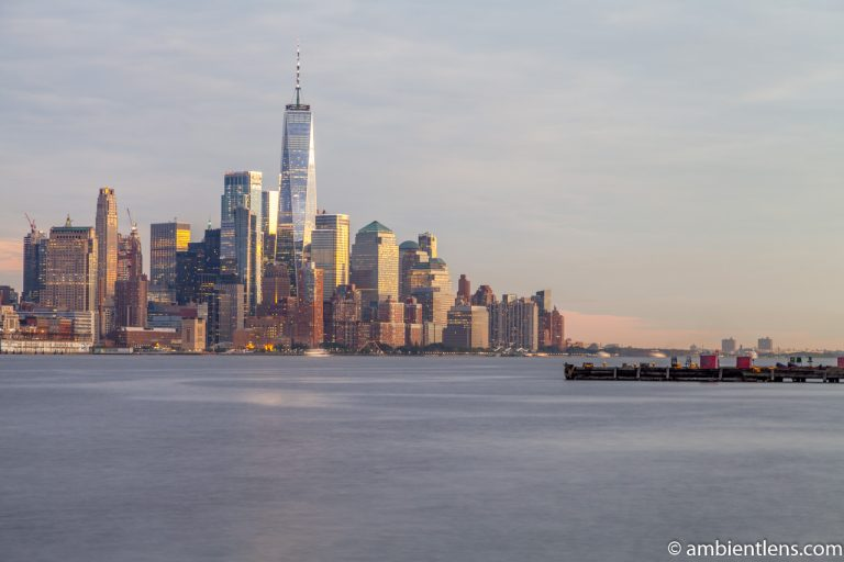 Lower Manhattan and the Hudson River at Sunset 3