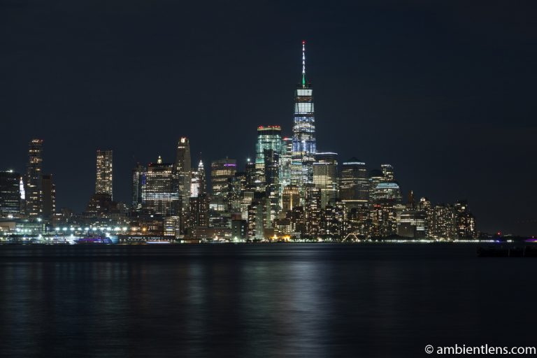 Lower Manhattan and the Hudson River at Night 1