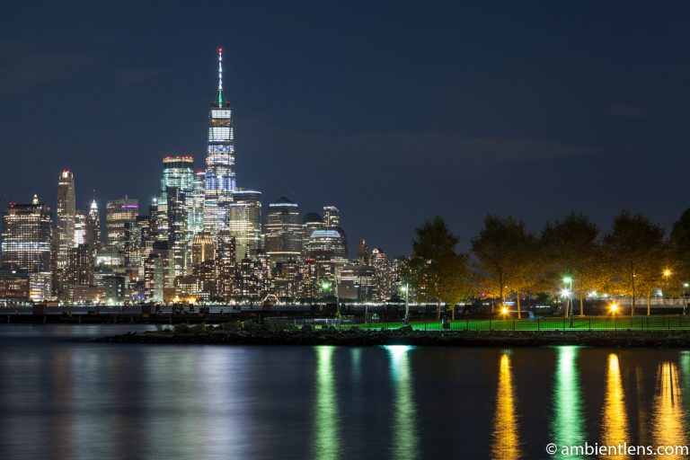 Lower Manhattan and Hoboken at Night 1