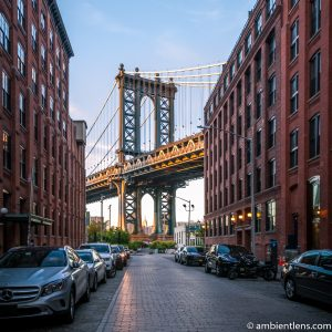 Manhattan Bridge from Washington Street, Brooklyn (SQ)