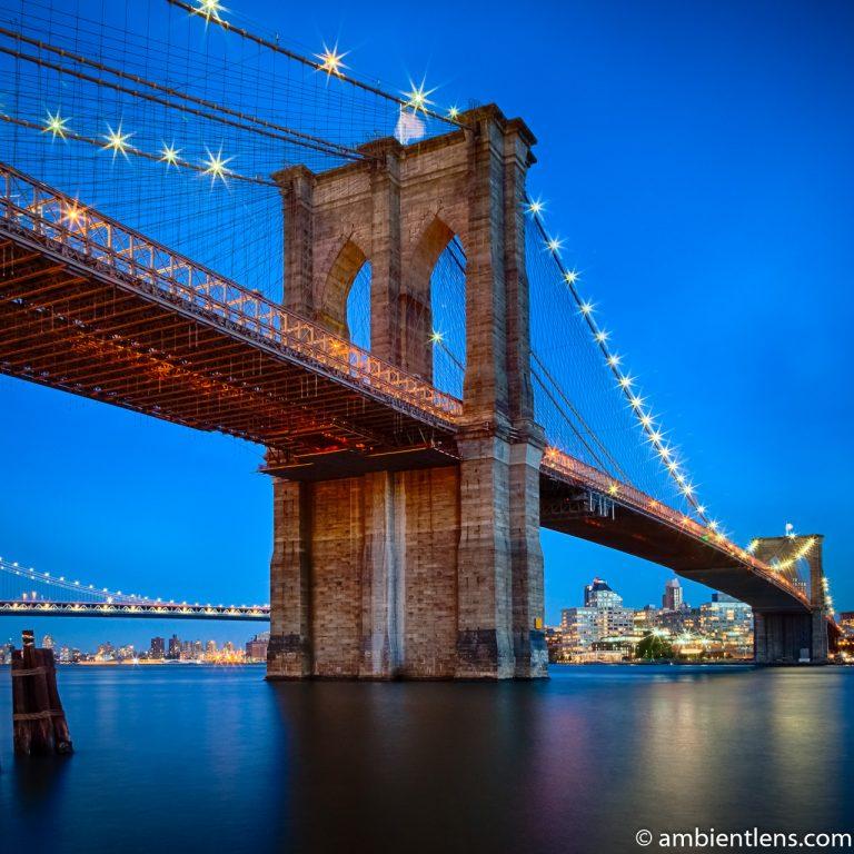 Brooklyn Bridge in Blue Light 1 (SQ)