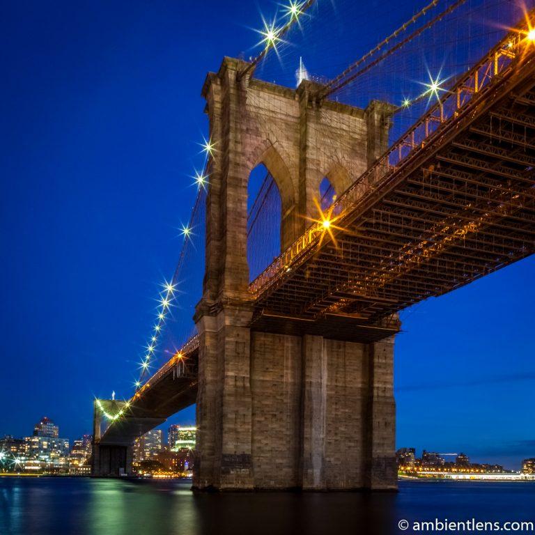 Brooklyn Bridge in Blue Light 5 (SQ)