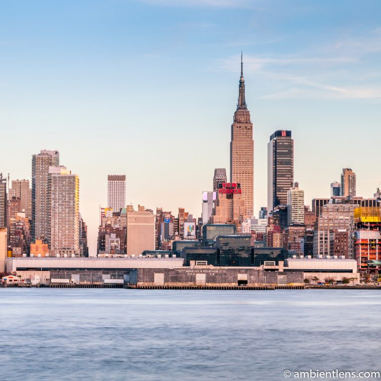 Midtown Manhattan and the Hudson River at Sunset 1 (SQ)