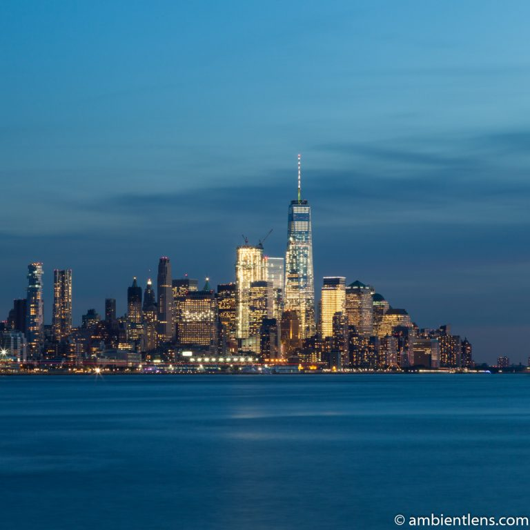 Lower Manhattan and the Hudson River at Sunset 2 (SQ)