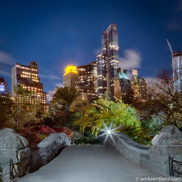 Central Park's Gapstow Bridge at Night 1 (SQ)