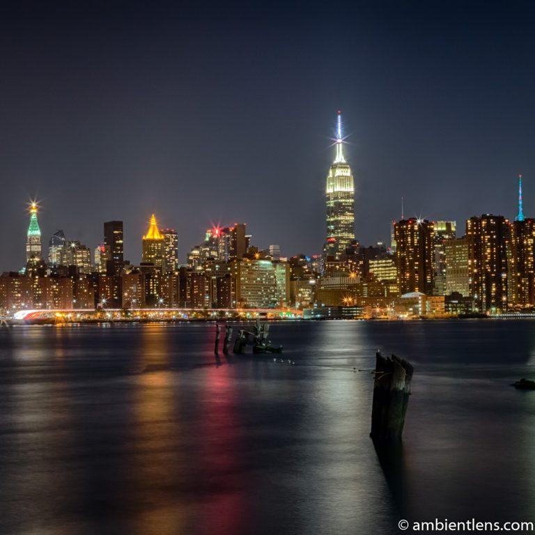 Midtown Manhattan and the East River at Night (SQ)