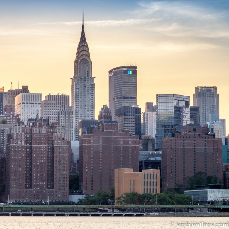 Midtown Manhattan and the East River at Sunset 1 (SQ)