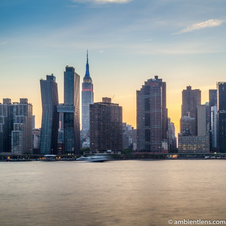 Midtown Manhattan and the East River at Sunset 4 (SQ)