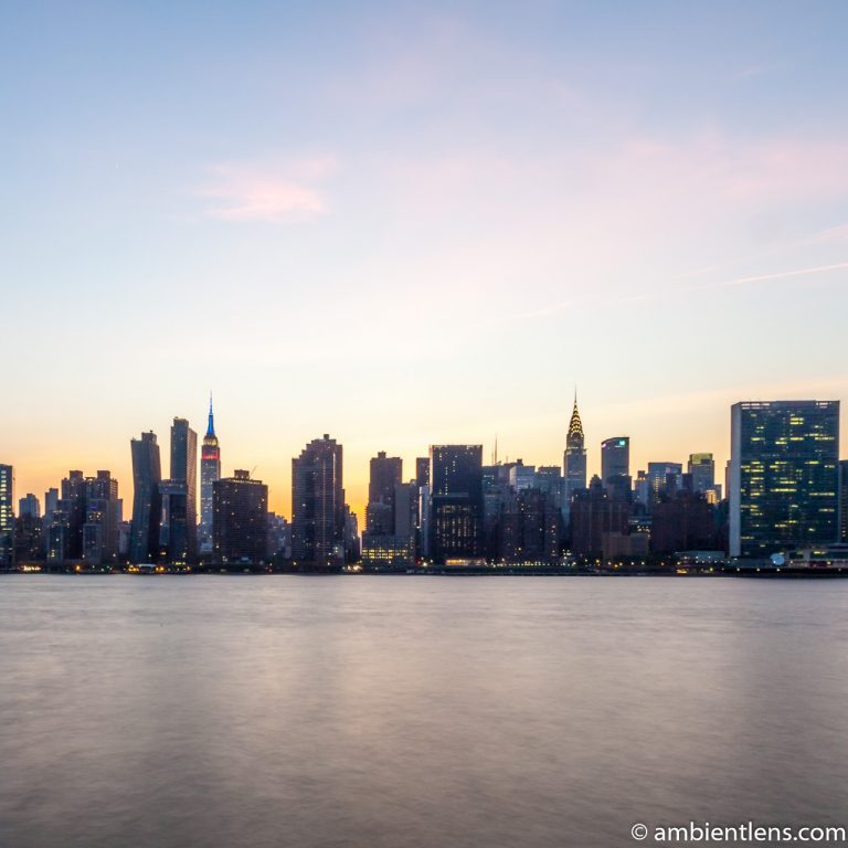 Midtown Manhattan and the East River at Sunset 5 (SQ)