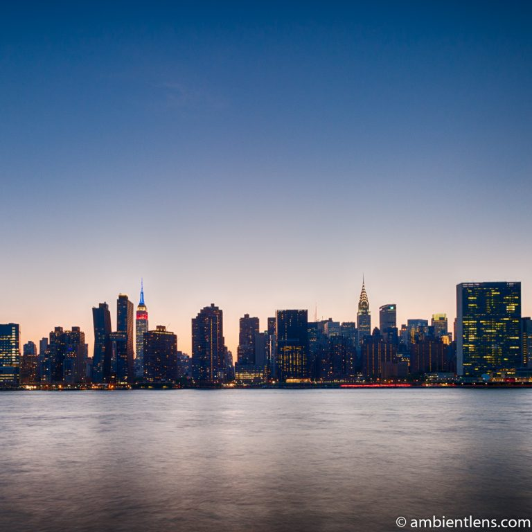 Midtown Manhattan and the East River at Sunset 9 (SQ)