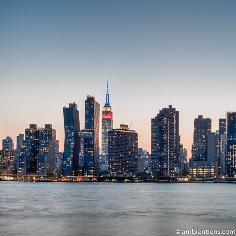 Midtown Manhattan and the East River at Sunset 10 (SQ)