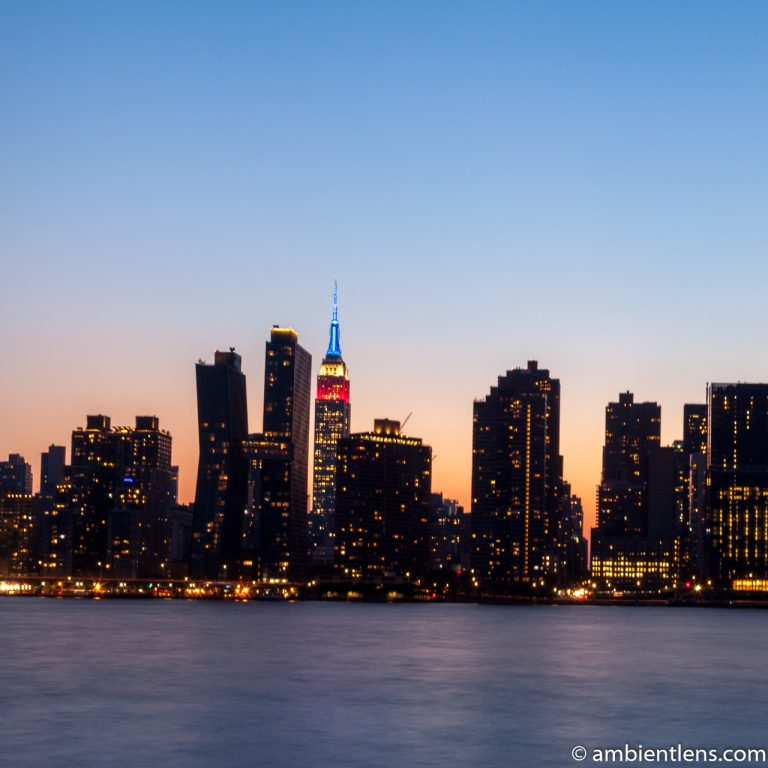 Midtown Manhattan and the East River at Sunset 6 (SQ)