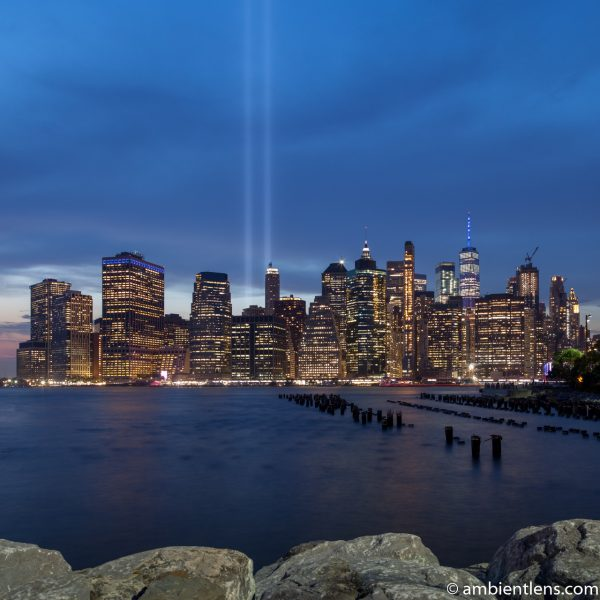 September 11 Twin Lights in Lower Manhattan, New York 4 (SQ)