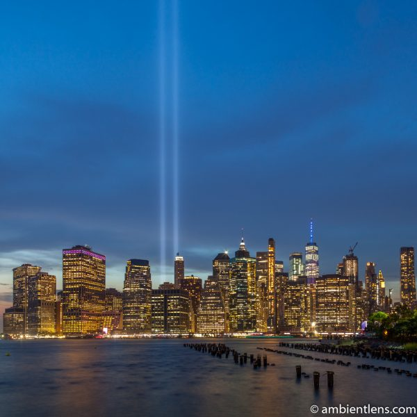 September 11 Twin Lights in Lower Manhattan, New York 3 (SQ)