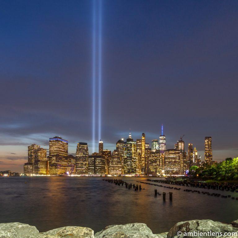 September 11 Twin Lights in Lower Manhattan, New York 2 (SQ)