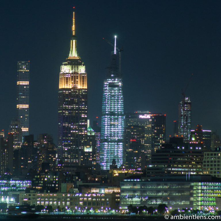 Midtown Manhattan and the Hudson River at Night 5 (SQ)