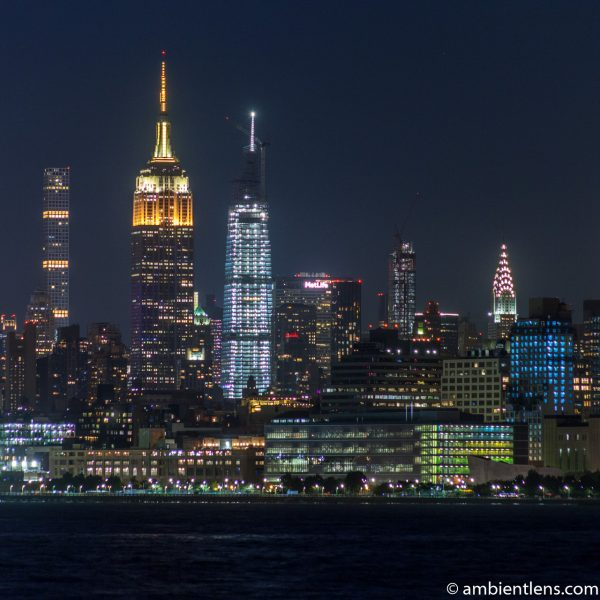Midtown Manhattan and the Hudson River at Night 4 (SQ)