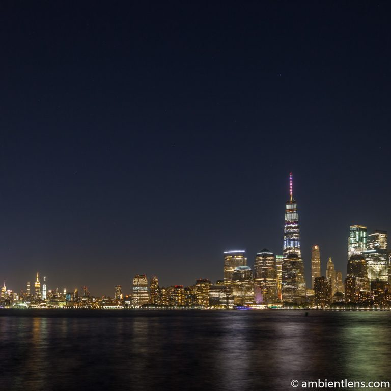 Lower Manhattan and the Hudson River at Night 3 (SQ)