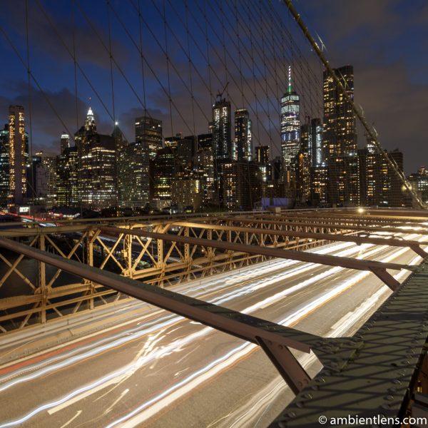 Cars on the Brooklyn Bridge at Night 2 (SQ)
