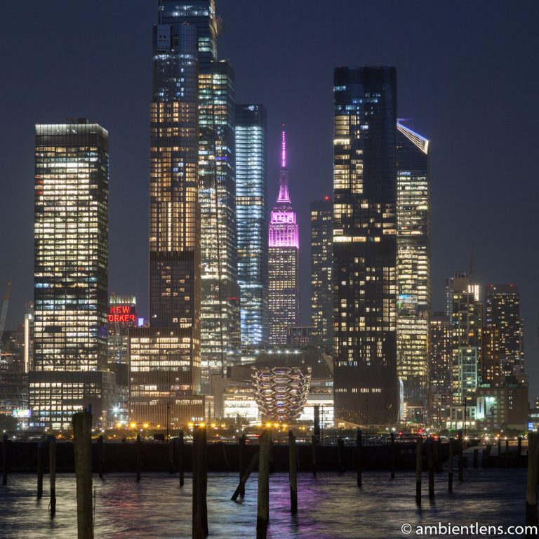 Midtown Manhattan and the Hudson River at Night 2 (SQ)