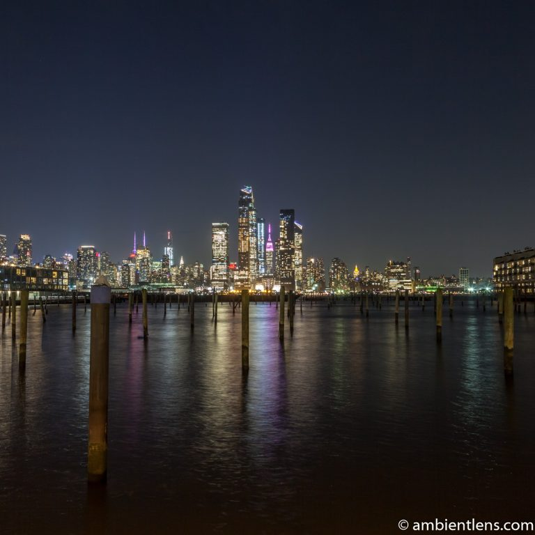 Midtown Manhattan and the Hudson River at Night 1 (SQ)