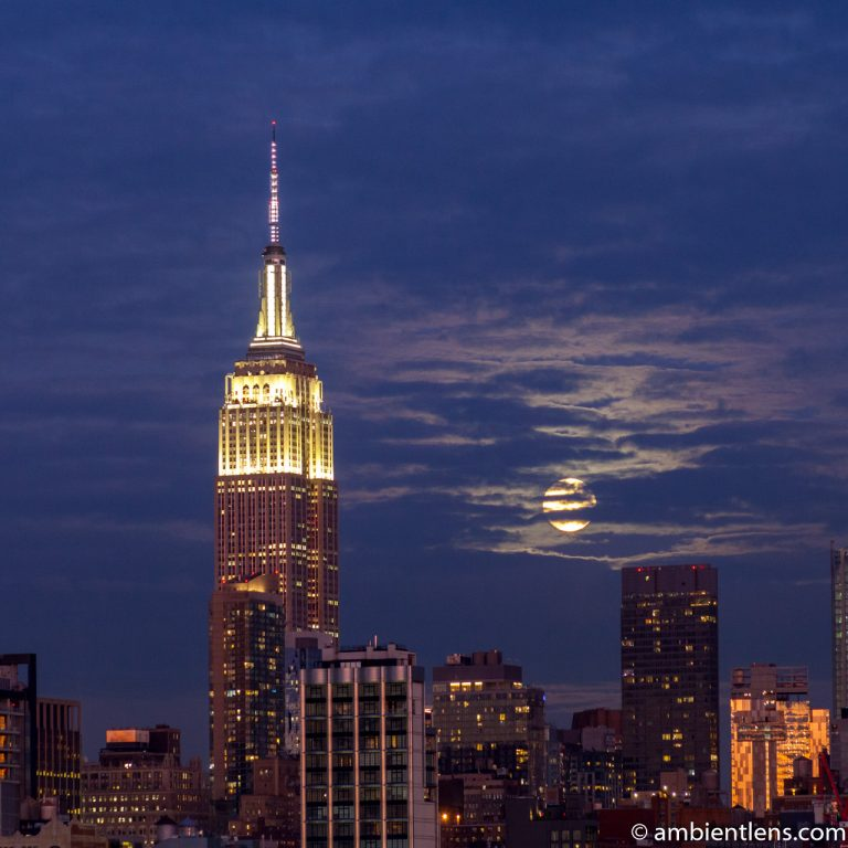 Moonrise over Manhattan, New York 7 (SQ)