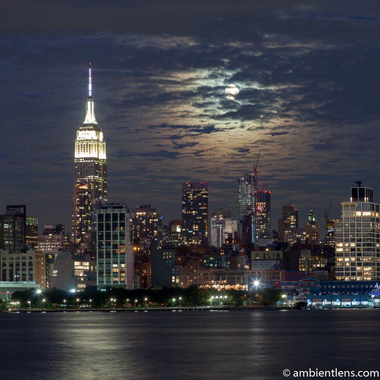 Moonrise over Manhattan, New York 1 (SQ)
