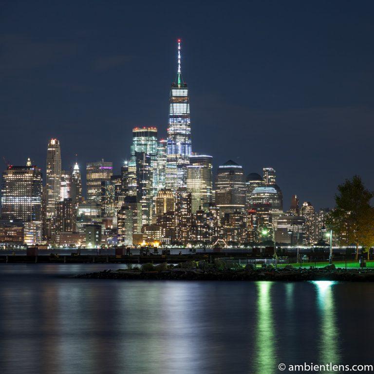 Lower Manhattan and Hoboken at Night 1 (SQ)