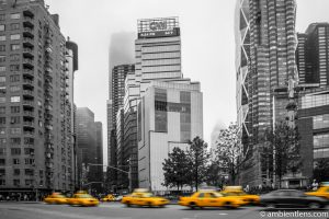 Yellow Cabs at Columbus Circle, New York 1