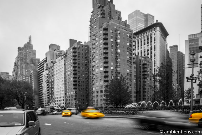 Yellow Cabs at Columbus Circle, New York 2