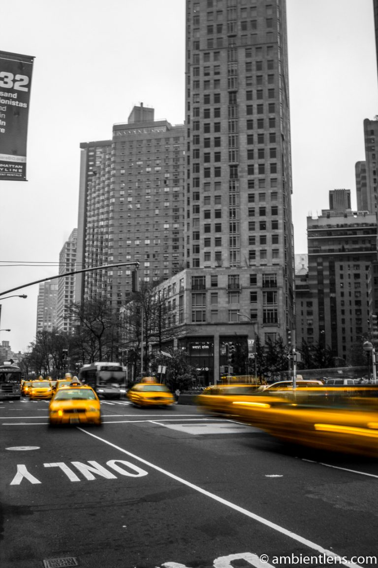 Yellow Cabs at Columbus Circle, New York 3