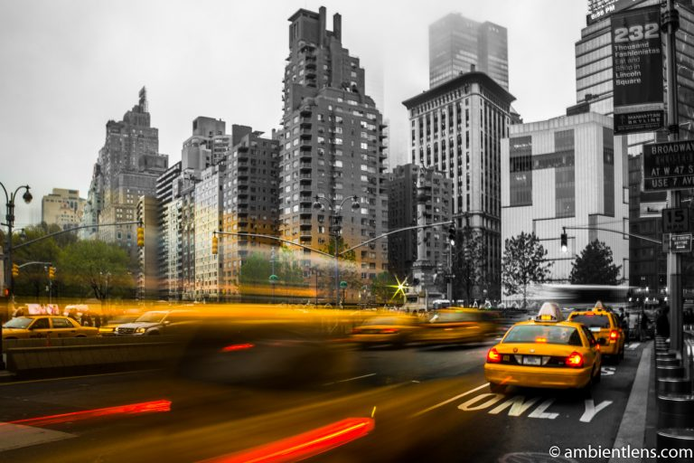 Yellow Cabs at Columbus Circle, New York 4
