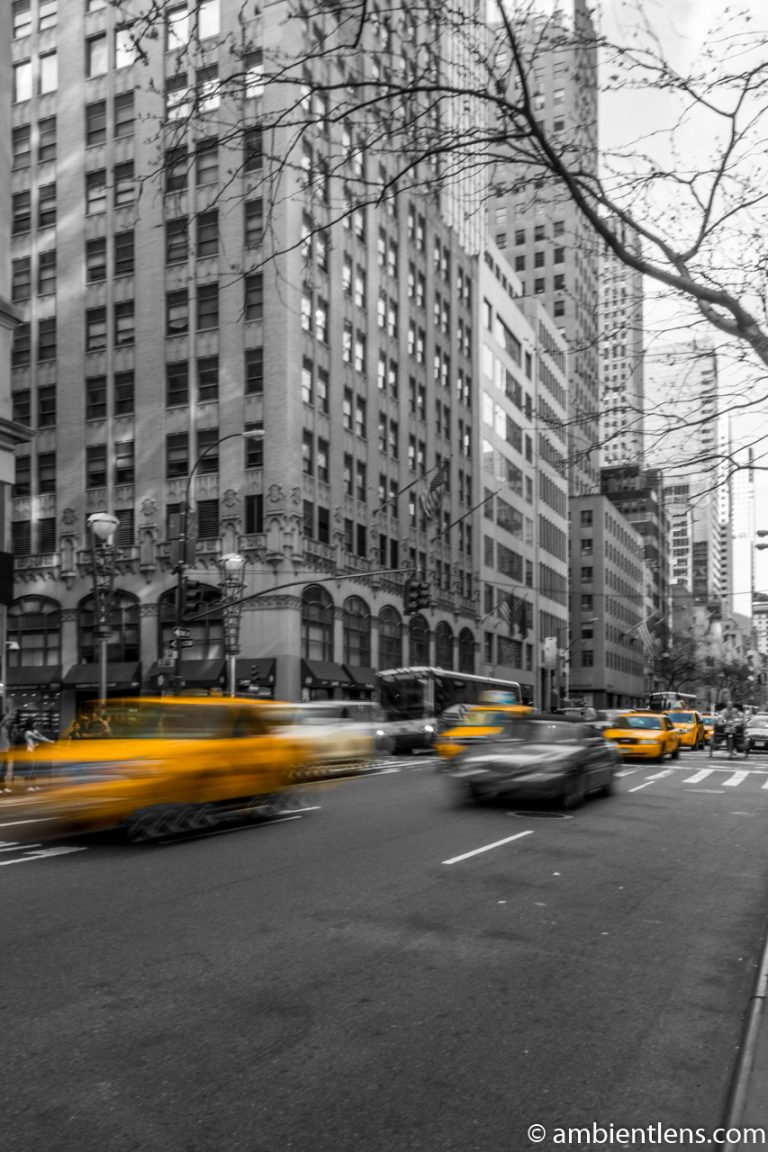 Yellow Cabs on Fifth Avenue, New York 1