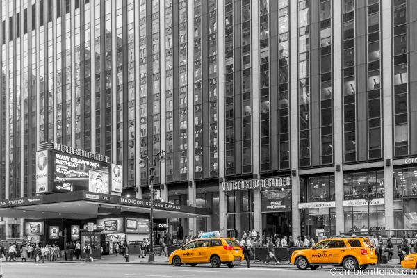 Yellow Cabs by Madison Square Garden, New York