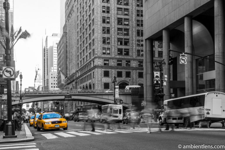 Yellow Cabs on 42nd Street, New York
