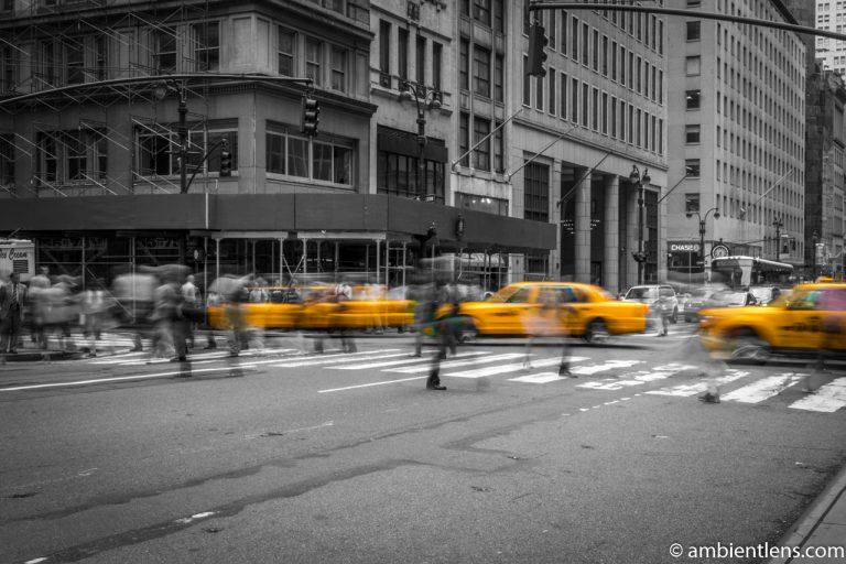 Yellow Cab on Fifth Avenue, New York 4