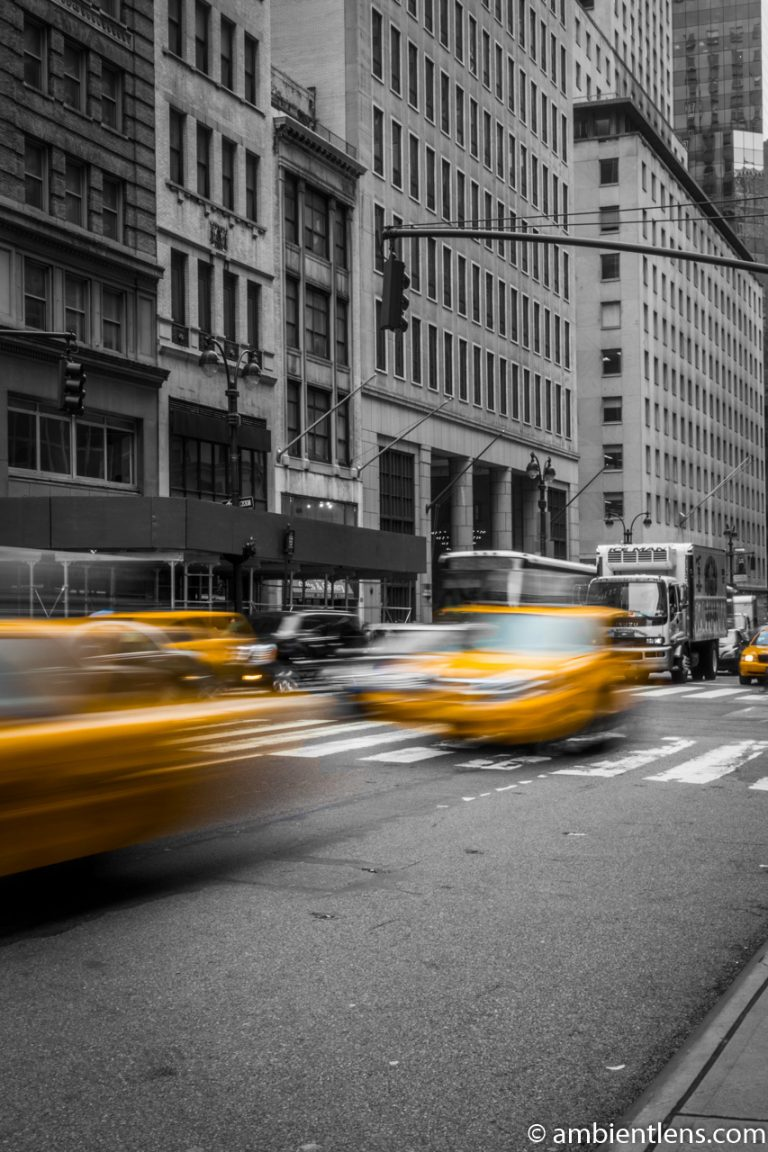 Yellow Cab on Fifth Avenue, New York 5