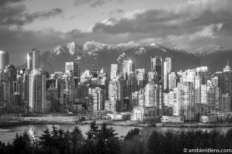 Vancouver Golden Hour (BW)