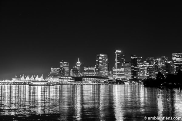 Downtown Vancouver at Night 3 (BW)