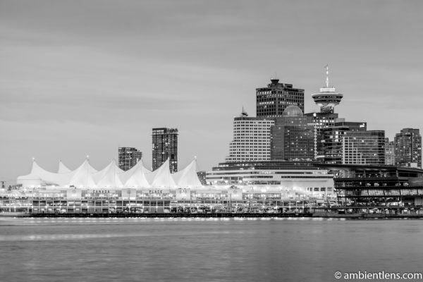 Canada Place, Vancouver, BC (BW)